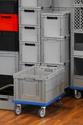 Commercial packing crates and boxes for transport Stock Photos