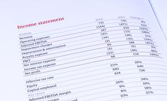 group income statement - stock photo