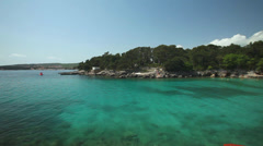 Clear waters on the coast of Krk, Croatia Stock Footage