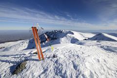 ski tour equipment - stock photo