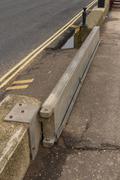 sidmouth flood gate - stock photo