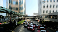 Traffic intersection Downtown Hong Kong, China, Asia Stock Footage