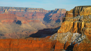 Stock Video Footage of GRAND CANYON – SUNSET AT THE SOUTH RIM (ZOOM OUT)