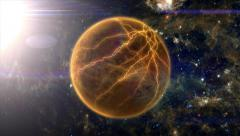 Planet Destroyed by Sun - stock footage