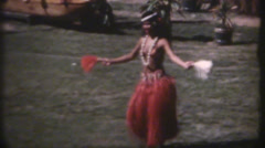 1950's & 60's  vintage Hawaiian dancers, keep movin Stock Footage