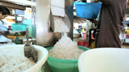 Stock Video Footage of Shredding coconut, Phuket Market, Thailand