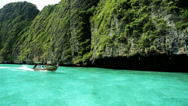 Stock Video Footage of Long tail boat Phi Phi Island Andaman Sea, Thailand