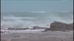 Storm Waves SA 02 Stock Footage