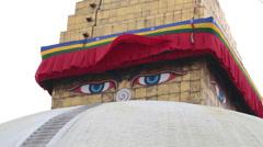 Bouddha stupa, Kathmandu, Nepal Stock Footage