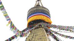 Bouddha stupa, Kathmandu, Nepal - stock footage