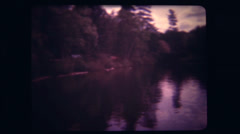 Old 8mm Film - 1970's campground Stock Footage