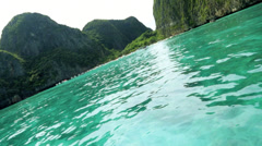 Cruising on the Andaman Sea, Phi Phi Island, Thailand Stock Footage