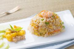 Chinese fried rice , or nasi goreng popular cusine in asia Stock Photos