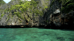 Tropical Island Paradise tourists, Phi Phi Island, Thailand - stock footage