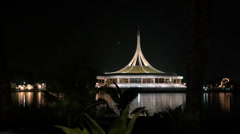 Rama ix park festival 2013 -Conference Centre - (94) - stock footage