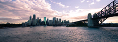 Time lapse of Sydney Harbour Sunset CinemaScope 266ND PAL Stock Footage