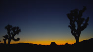 SUNRISE COLORS AT JOSHUA TREE NATIONAL PARK (PAN) Stock Footage