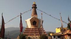 Buddhism Soultower, Kathmandu, Nepal - stock footage