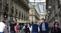 People Visiting Shopping Area Vittorio Emanuele II Gallery Milan Famous Brands Footage