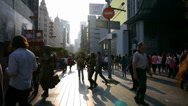 Extremely busy nanjing road,pedestrian mall,Shanghai,China. Stock Footage