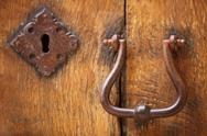 Stock Photo of old doorhandle and lock