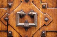 Stock Photo of old wrought iron door knocker