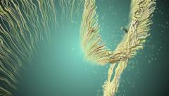Fluid organic matter. Stock Footage