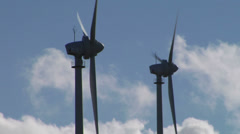 wind turbines closeup - stock footage