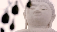 Stock Video Footage of Prayer chimes blurred focus Buddha Statue, Thailand