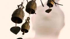 Brass bells Buddha Statue, Chalong, Thailand, - stock footage
