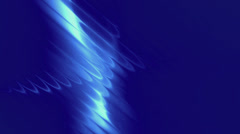 Abstract light waves - blue Stock Footage