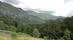 Summer view from top of the Swiss Alps near Locarno Stock Footage