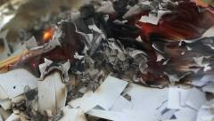Burning Pieces of Paper 2 Stock Footage
