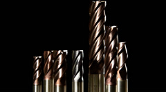 Milling cutters Stock Footage