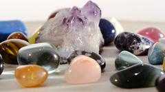 Semi-precious stones Stock Footage