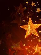 Shining golden stars Stock Illustration