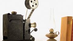 vintage movie projector - stock footage
