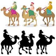 Three Wise Men on White Stock Illustration