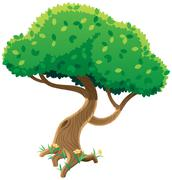 Tree on White - stock illustration