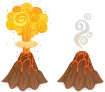 Volcano - stock illustration