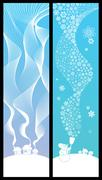 Winter Banners Vertical - stock illustration