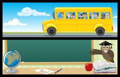 Educational Banners - stock illustration