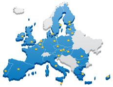European Union Map - stock illustration