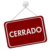 cerrado closed sign - stock illustration