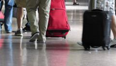 Passengers at Boarding Gate Stock Footage
