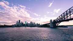Sydney Harbour Sunset time lapse WS 260GYCR PAL Stock Footage
