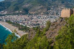 Habor of alanya Stock Photos