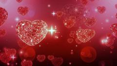 Stock Video Footage of Loop able Valentine Diamonds Heart