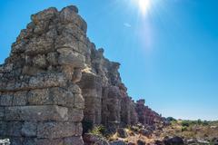 ruins of ancient city - stock photo