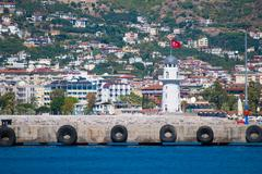 Alanya lighthouse Stock Photos